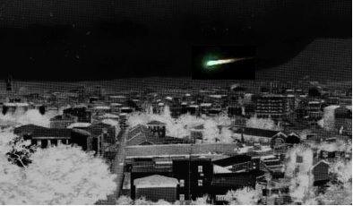 """""""Sigaro"""" luminoso sfreccia di notte nel cielo di Terni"""