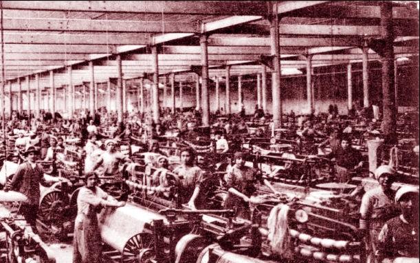le donne operaie al lavoro jutificio terni
