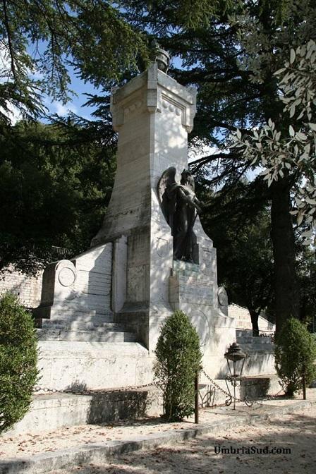 Terni monumento ai giardini della passeggiata