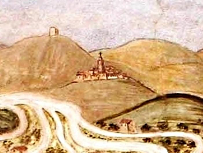 La rocca di Miranda e, più in basso, Papigno