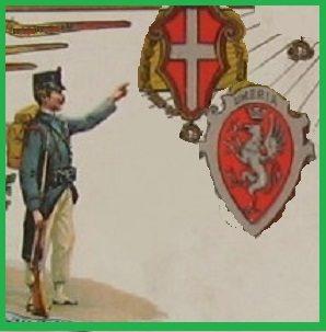 1861, una Colonna Umbra dell'esercito regio a guardia della frontiera