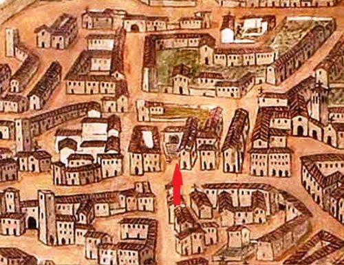 """1788, per evitare scandali chiuso con un cancello vicolo di """"Corso Vecchio"""""""