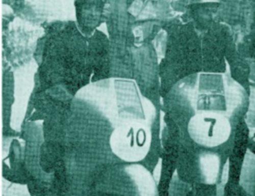 1950, scooter in gara per la Coppa Città di Perugia