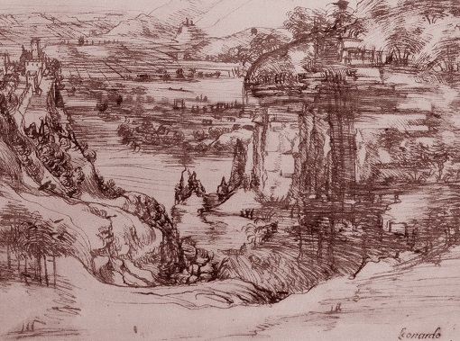 Leonardo cascata delle marmore