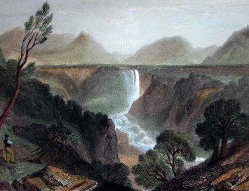 1545, alle Marmore frana di pietra sponga sbarra il Nera da due anni; petizione al Comune