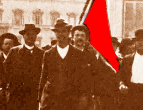 """1913, per la notte di Capodanno festa del """"Garofano Rosso"""""""