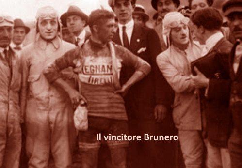 Brunero primo alla pista di Viale Brin nella Sulmona-Terni del Giro 1926