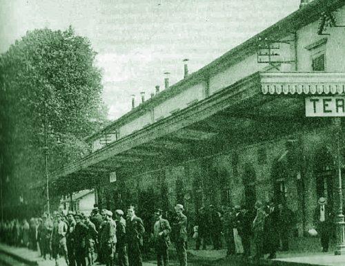 1895, frana per il maltempo in Valserra: bloccata la ferrovia Roma-Ancona